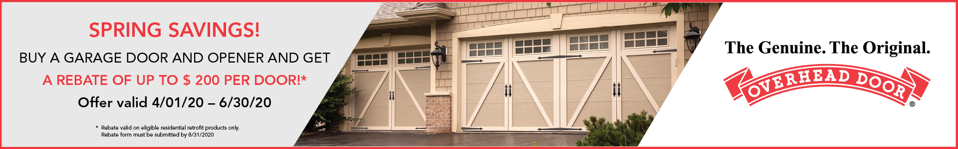 Overhead Door Rebate